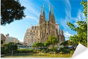 Pixerstick Aufkleber La Sagrada Familia, Barcelona, Spanien.p