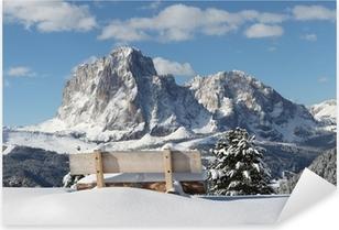 Pixerstick Aufkleber Langkofel Berg der Dolomiten