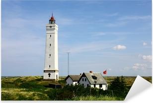 Pixerstick Aufkleber Leuchtturm von Blavand in Dänemark