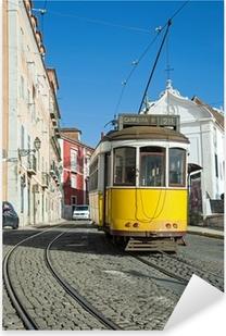 Pixerstick Aufkleber Lissabon-Tram-Gelb - Zeile 28