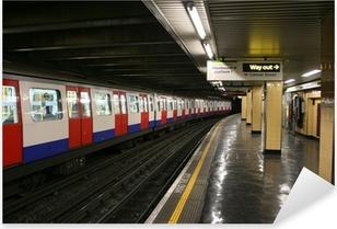 Pixerstick Aufkleber London underground station