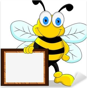 Aufkleber Zeichnen Funny Cute Bienen Vektor Illustration Pixers