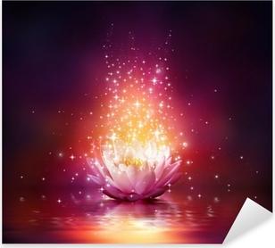 Pixerstick Aufkleber Magie Blume auf dem Wasser