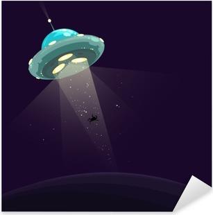 Pixerstick Aufkleber Man entführte durch UFO
