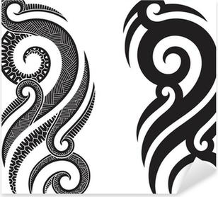 aufkleber maori pixers wir leben um zu ver ndern. Black Bedroom Furniture Sets. Home Design Ideas