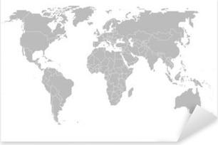 Pixerstick Aufkleber Map of the world