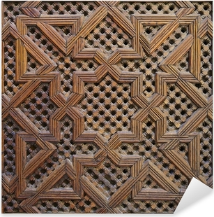 Pixerstick Aufkleber Marokkanischen Zedernholz Arabesque Carving