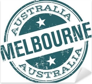 Pixerstick Aufkleber Melbourne Stempel