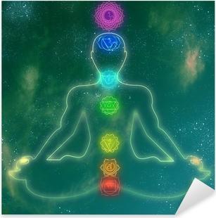 Pixerstick Aufkleber Menschliche Chakra-System