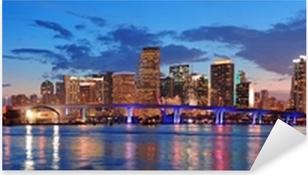 Pixerstick Aufkleber Miami Nachtszenep