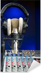 Pixerstick Aufkleber Mixer, Mikrofon und Kopfhörer