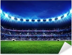 Pixerstick Aufkleber Moderne Fußballstadion mit Fans auf der Tribünep