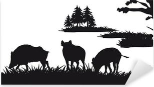 Pixerstick Aufkleber Motive Jagd von Tieren und Landschaften