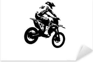 Pixerstick Aufkleber Motocross-Jumper
