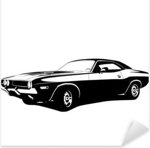 Pixerstick Aufkleber Muscle-Car-Profilp