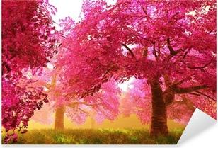Pixerstick Aufkleber Mysterious Cherry Blossom Treesp