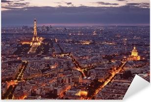 Pixerstick Aufkleber Nachtansicht von Paris.p