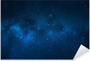 Pixerstick Aufkleber Nachthimmel - Universum gefüllt mit Sternen, Nebel und Galaxienp