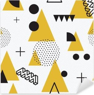 Pixerstick Aufkleber Nahtlose abstrakte geometrische Musterp