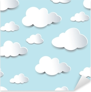Pixerstick Aufkleber Nahtlose Ausschnitt Wolkenp