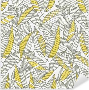 Pixerstick Aufkleber Nahtlose Blumenblatt-Muster