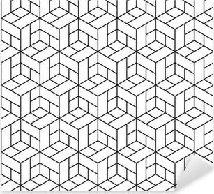 Pixerstick Aufkleber Nahtlose geometrische Muster mit Würfeln.p