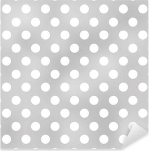 Pixerstick Aufkleber Nahtlose Polka Dots grauen Muster