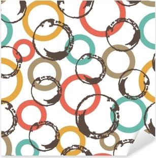 Pixerstick Aufkleber Nahtloses Vektormuster mit bunten Kreisen.