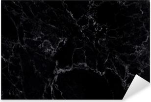 Pixerstick Aufkleber Natürliches Muster aus schwarzem Marmor für Hintergrund und Design.