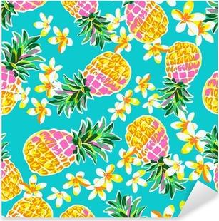 Pixerstick Aufkleber Nette Ananas nahtlose Druck