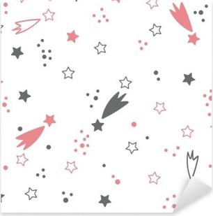 Pixerstick Aufkleber Nette nahtlose Muster mit Sternen. Raum Hintergrundp