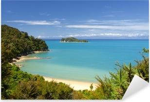 Pixerstick Aufkleber Neuseeland Landschaft. Abel Tasman National Park.