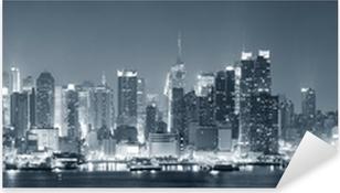 Pixerstick Aufkleber New York City Manhattan schwarz und weißp