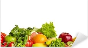 Pixerstick Aufkleber Obst und Gemüse Grenzenp