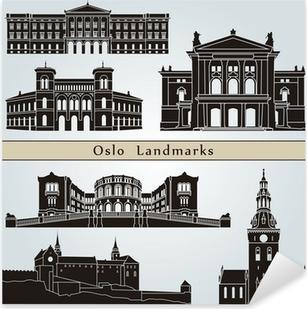 Pixerstick Aufkleber Oslo Sehenswürdigkeiten und Monumentep