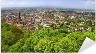 Pixerstick Aufkleber Panorama-Blick von Freiburg im Breisgau Stadt, Deutschland