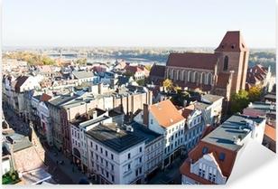 Pixerstick Aufkleber Panorama der Stadt Torun in Polenp