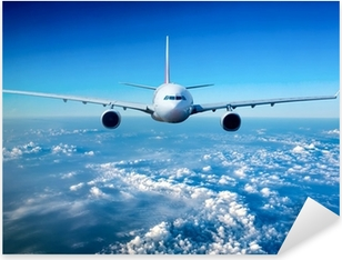 Pixerstick Aufkleber Passagierflugzeug in den Himmel