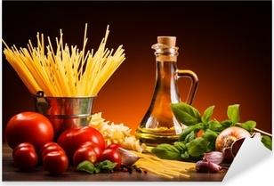 Pixerstick Aufkleber Pasta und frisches Gemüse