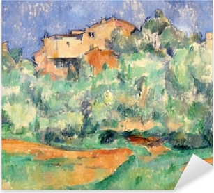 Pixerstick Aufkleber Paul Cézanne - Das Gehöft von Bellevue mit Taubenschlag