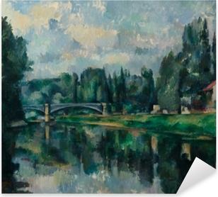 Pixerstick Aufkleber Paul Cézanne - Ufer der Marne (Brücke über die Marne in Créteil)p