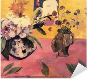 Pixerstick Aufkleber Paul Gauguin - Stillleben mit japanischem Holzschnitt