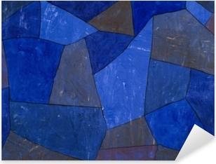 Pixerstick Aufkleber Paul Klee - Felsen in der Nacht