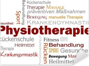 Pixerstick Aufkleber Physiotherapie Wörter Text