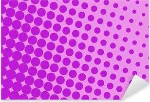 Pixerstick Aufkleber Pop-Art-violettp