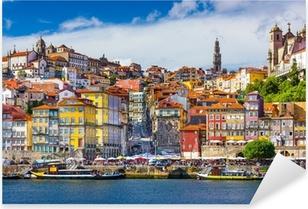 Pixerstick Aufkleber Porto, Portugal Alte Stadt-Skyline auf dem Fluss Douro