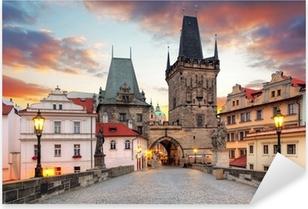 Pixerstick Aufkleber Prag Blick von der Karlsbrücke
