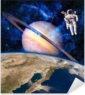 Pixerstick Aufkleber Raum Astronaut Raumfahrer