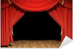 Pixerstick Aufkleber Red Stage Theater Samtvorhänge