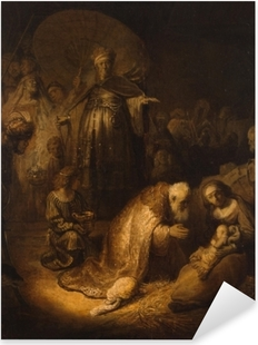 Pixerstick Aufkleber Rembrandt - Anbetung der Könige